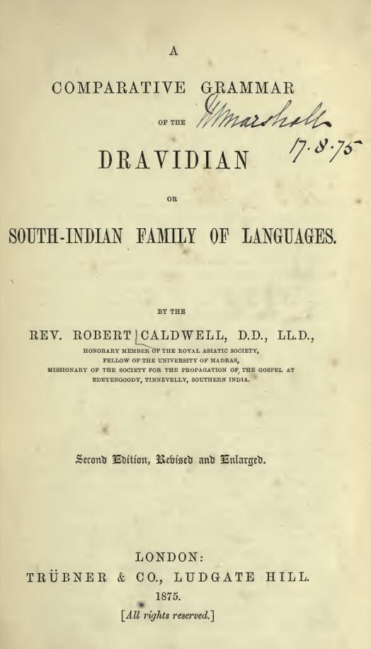 1876-A comparative grammar Robert Caldwell