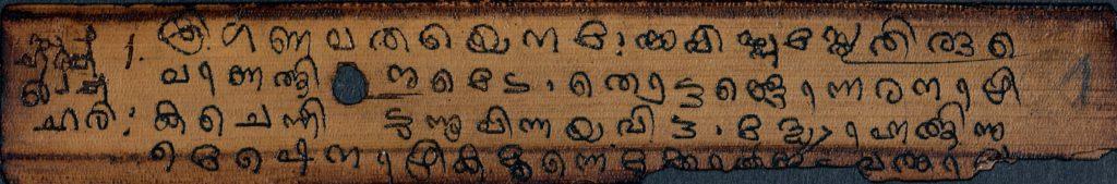 ഹരിവംശ പുരാണം – വ്യാസമുനി – താളിയോല പതിപ്പ്