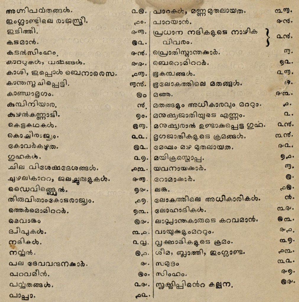 1858 – വിദ്യാമൂലങ്ങൾ - ഉള്ളടക്കം