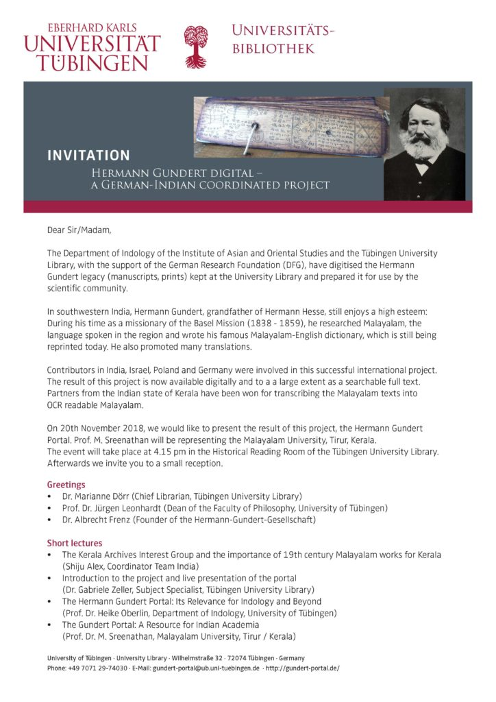 Gundert portal inauguration - press release